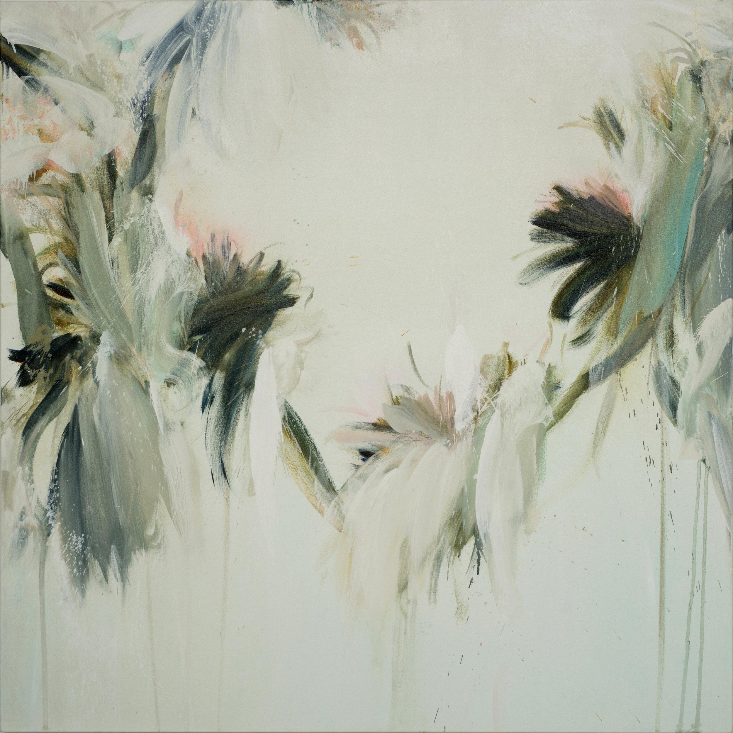 "Gravity   Mixed media on canvas (47""x47"")"