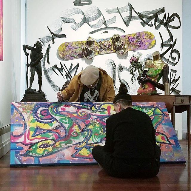 Documentary Shoot:  Graffiti Artist Delta2  Videographer Vic Cruz  Rafael Gallery NYC 212-755-4888 #delta2 #victoriatarantino #graffiti #graffitiartist #graffitiart #streetart #streetartists #nycgallery