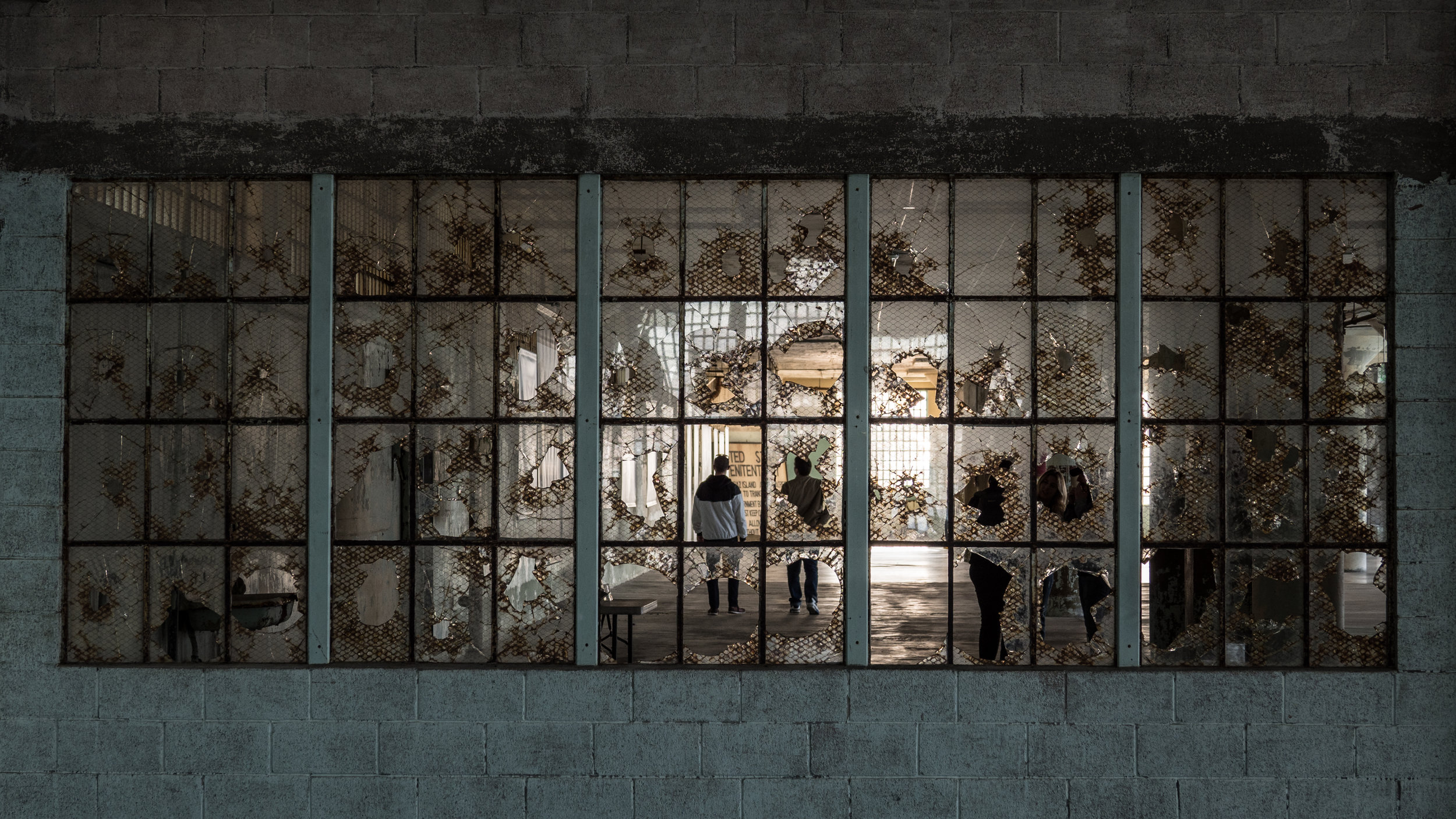 The beautiful broken windows of Alcatraz inspired all of us!!
