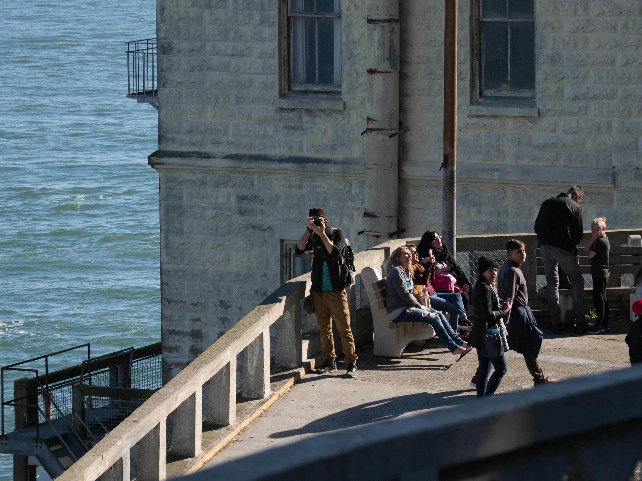 Austin on Alcatraz landing.