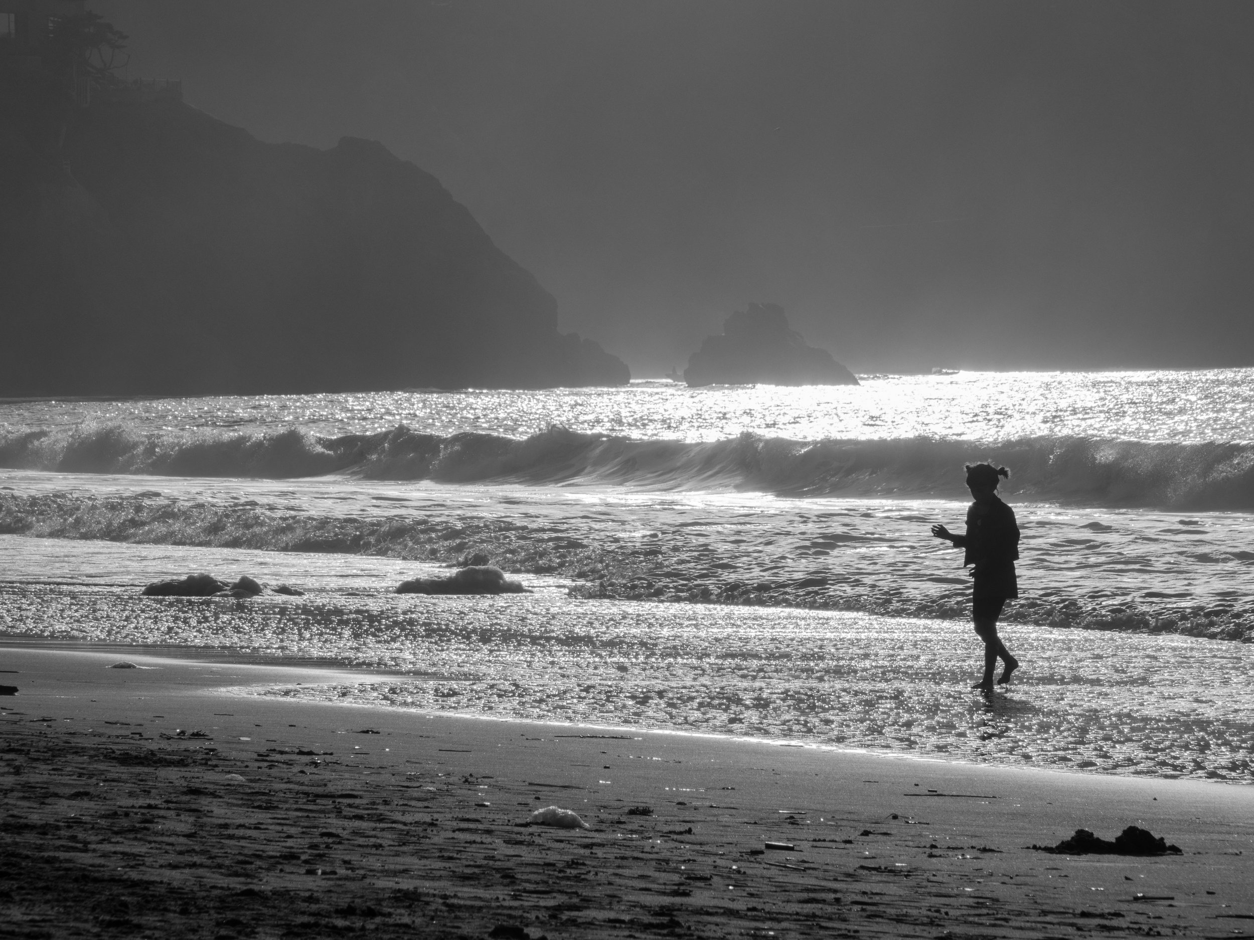 Silhouetted Child against the most beautiful ocean afternoon!