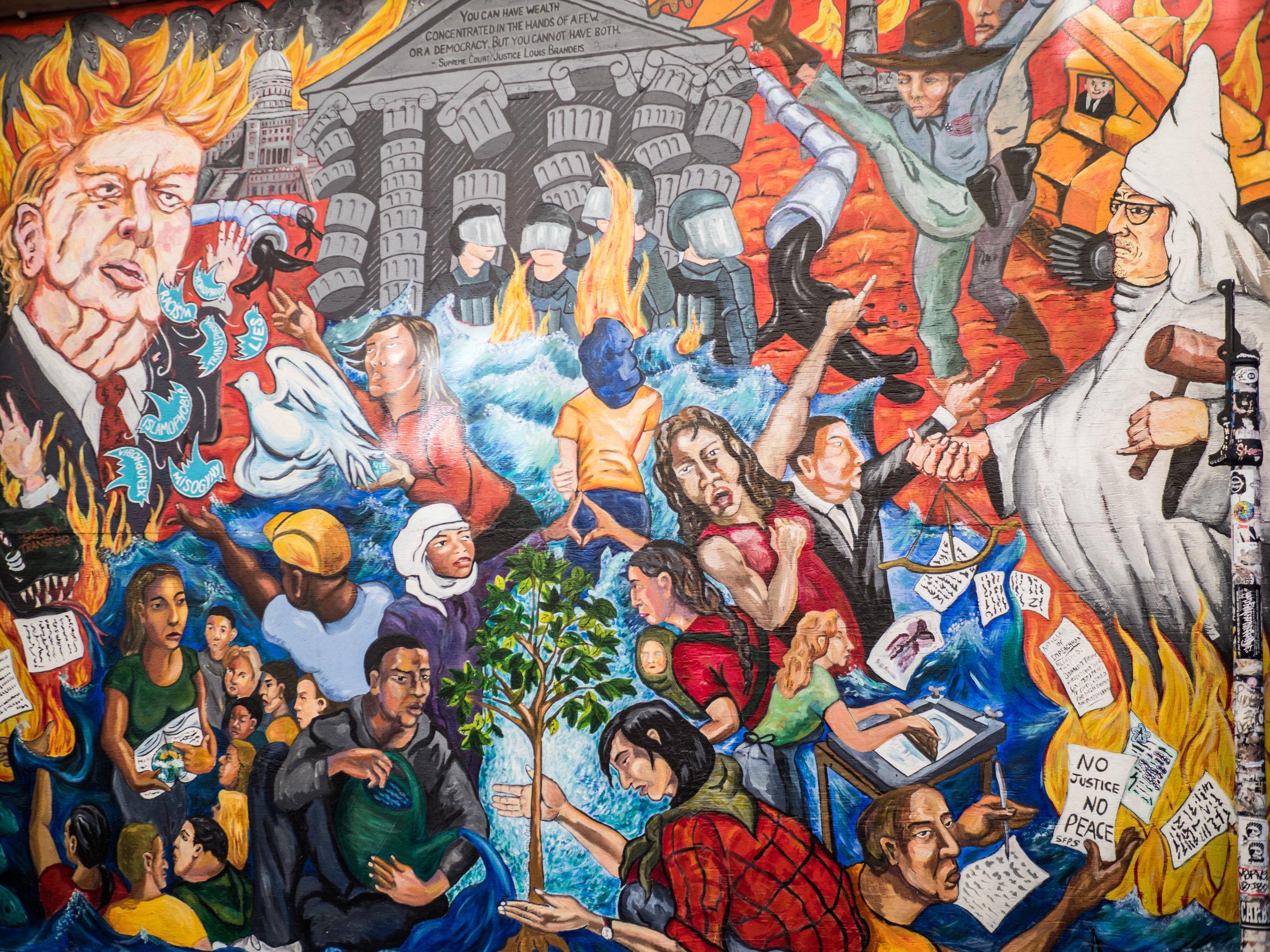 Graffiti in Graffiti Alley in the Mission District of San Francisco