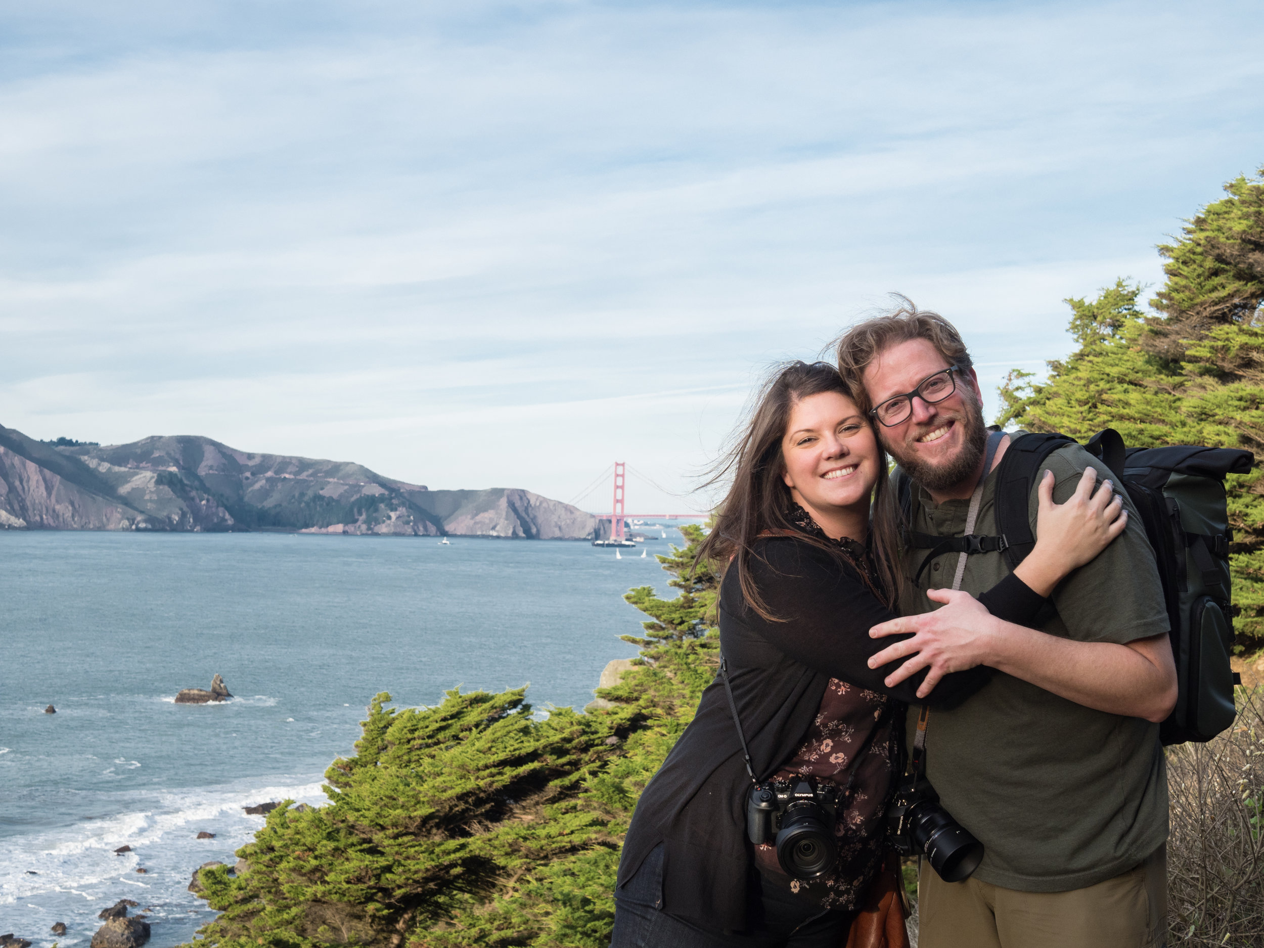 Eric and Mary with the Golden Gate behind.
