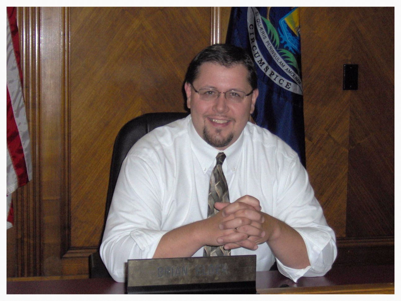 Brian as Chair of the Bay County Board of Commissioners.