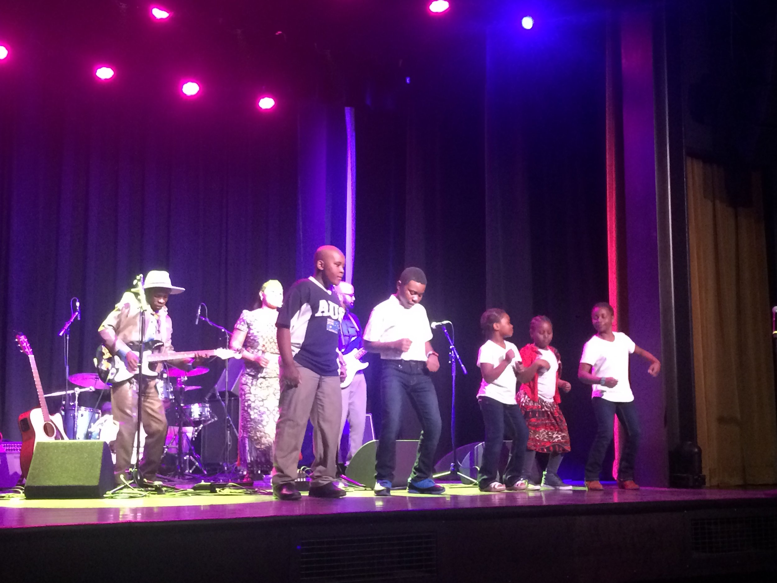 Refugees from the Democratic Republic of Congo, now living in Missoula, performing at the Rialto Theater, Bozeman - February 2018