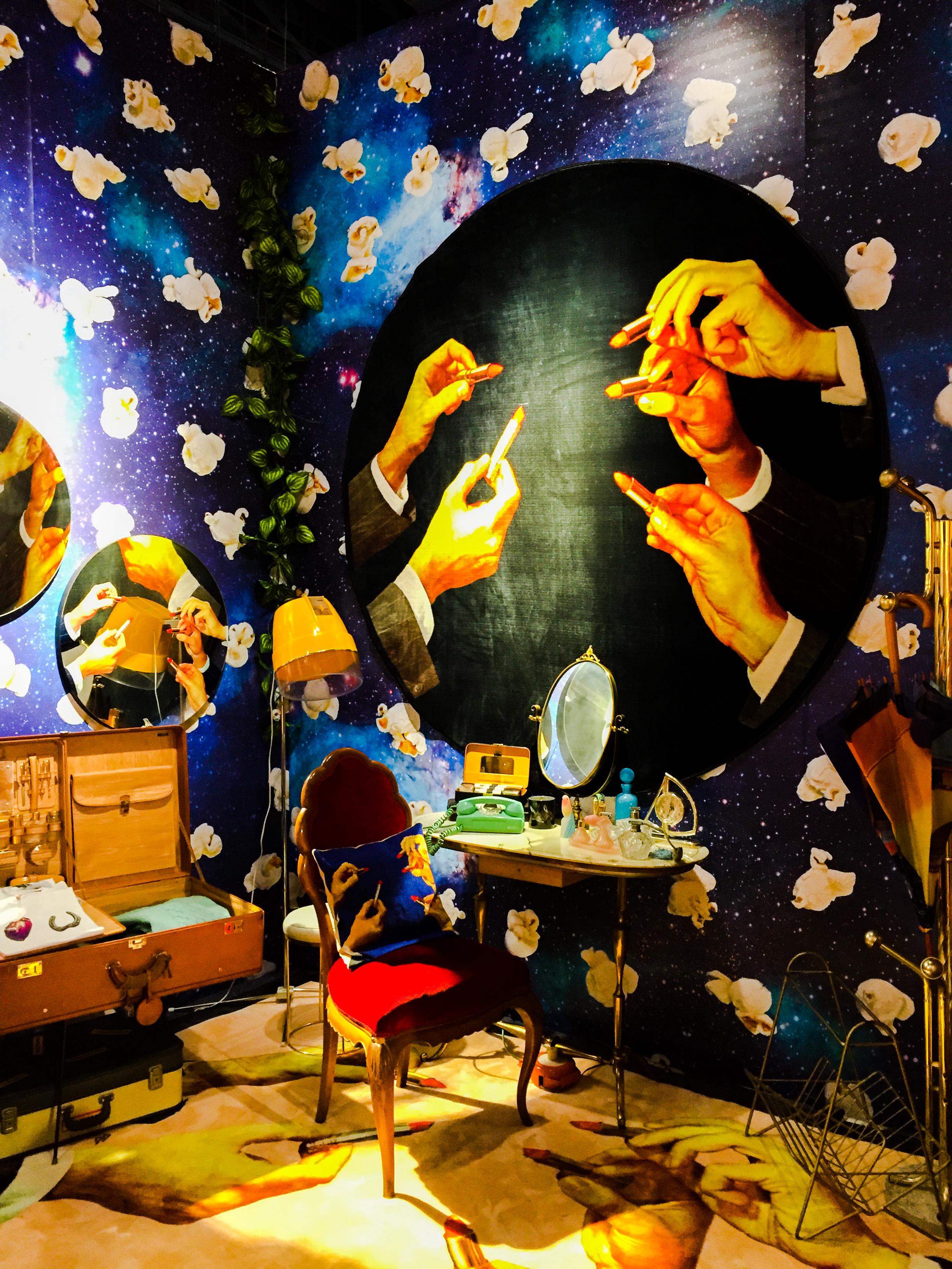 A complete room installation. I call it Fantasy Bedroom.