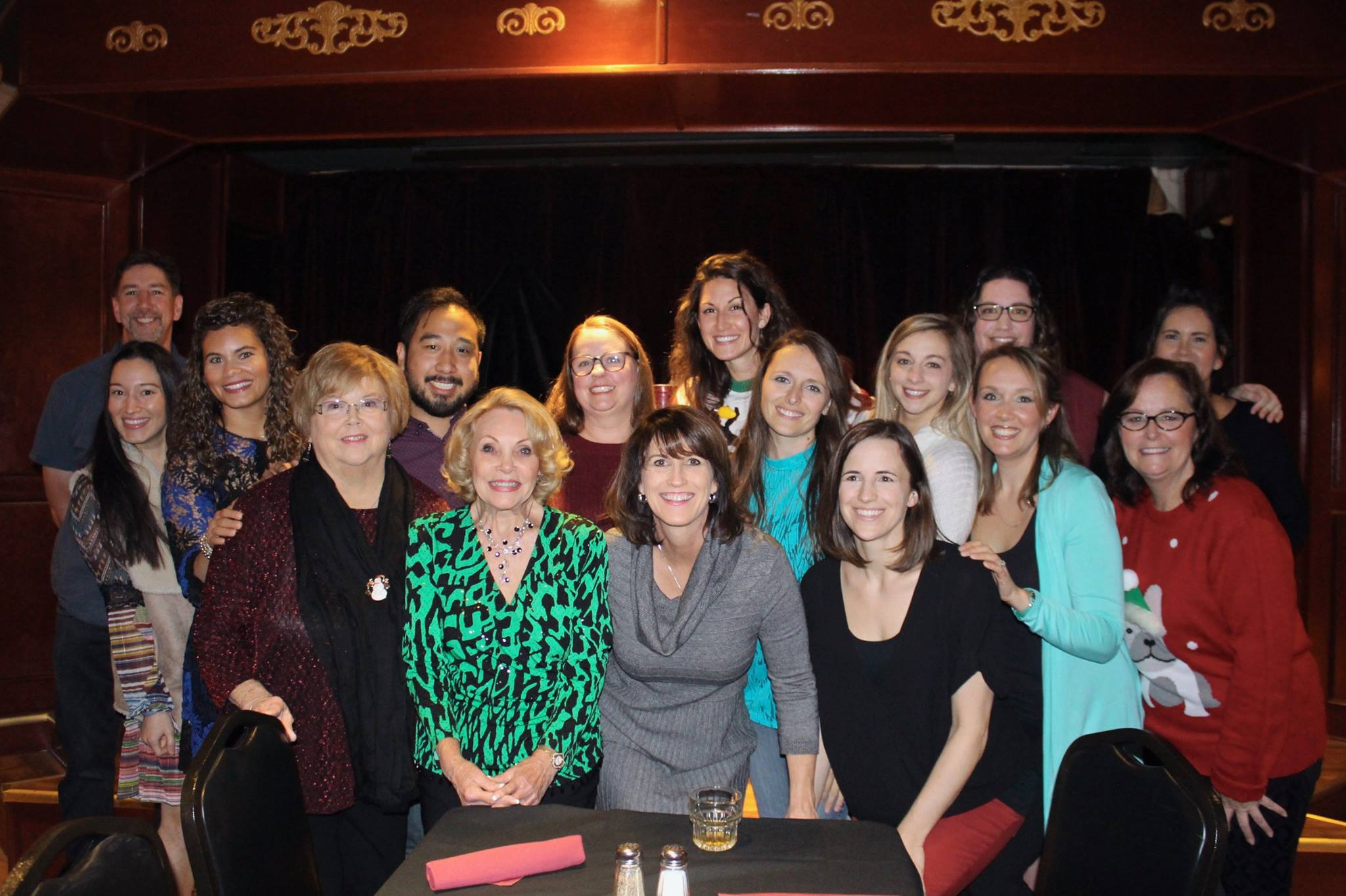 Our whole team at our year-end holiday party, minus a few faces!