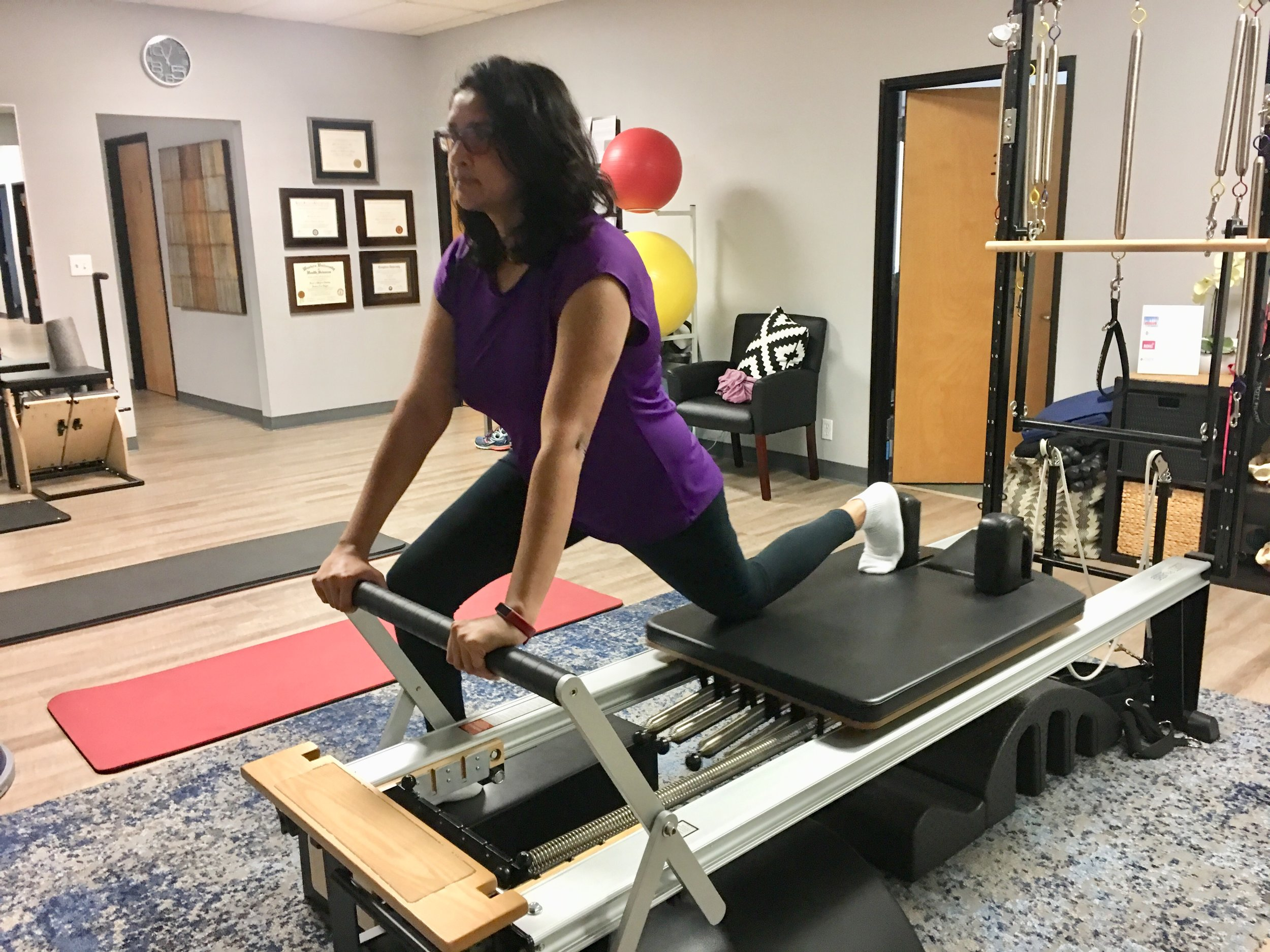 Aneeka's personalized healing plan incorporates various treatment methods, including Pilates.