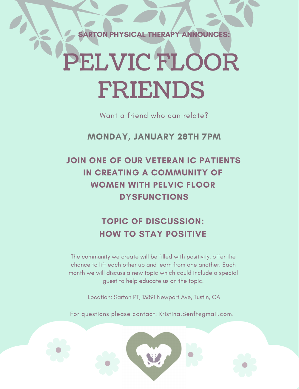 Stay Positive with Pelvic Floor Dysfunction