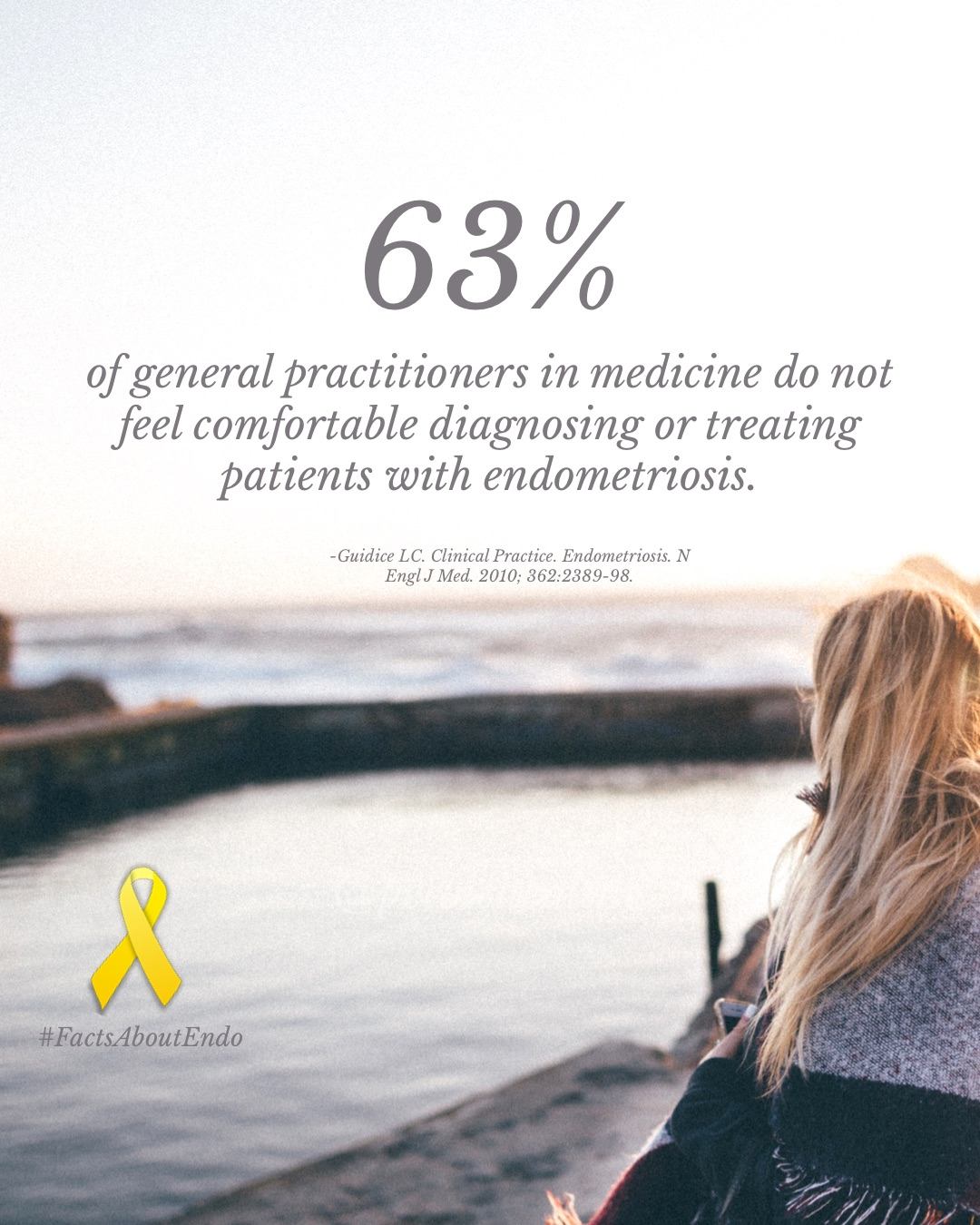 About 63% of general practitioners do not feel comfortable diagnosing and treating patients with endometriosis.JPG