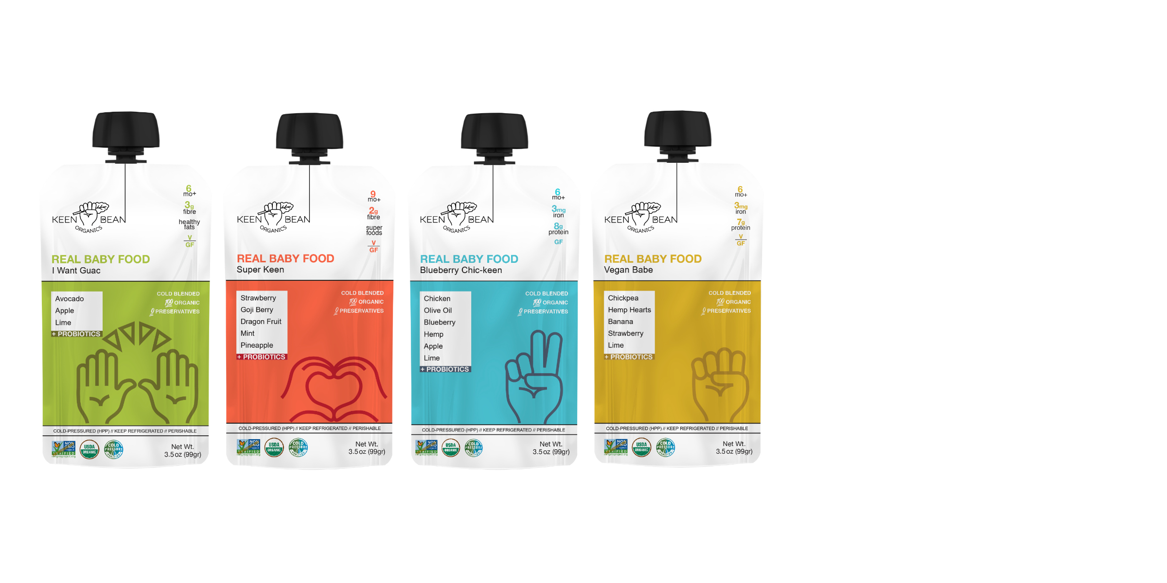 Cold-pressed juice meets baby food. - ( + PROBIOTICS )