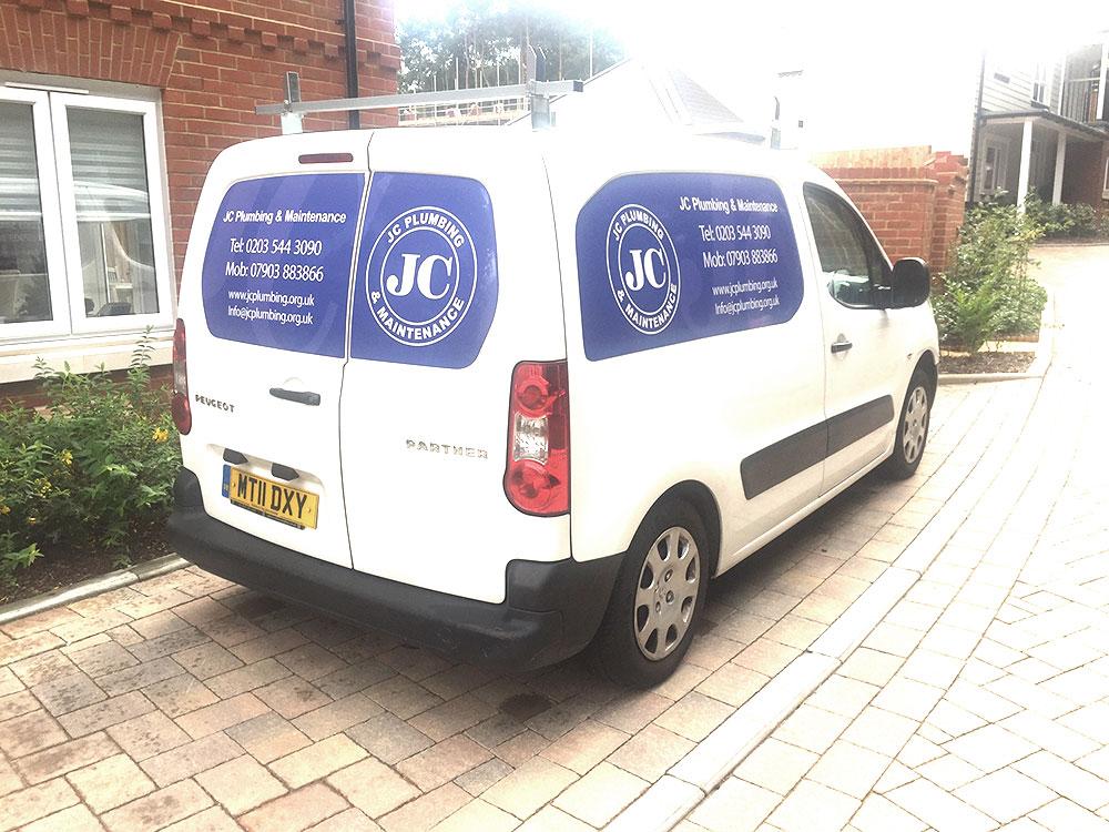 J C Plumbing vehicle