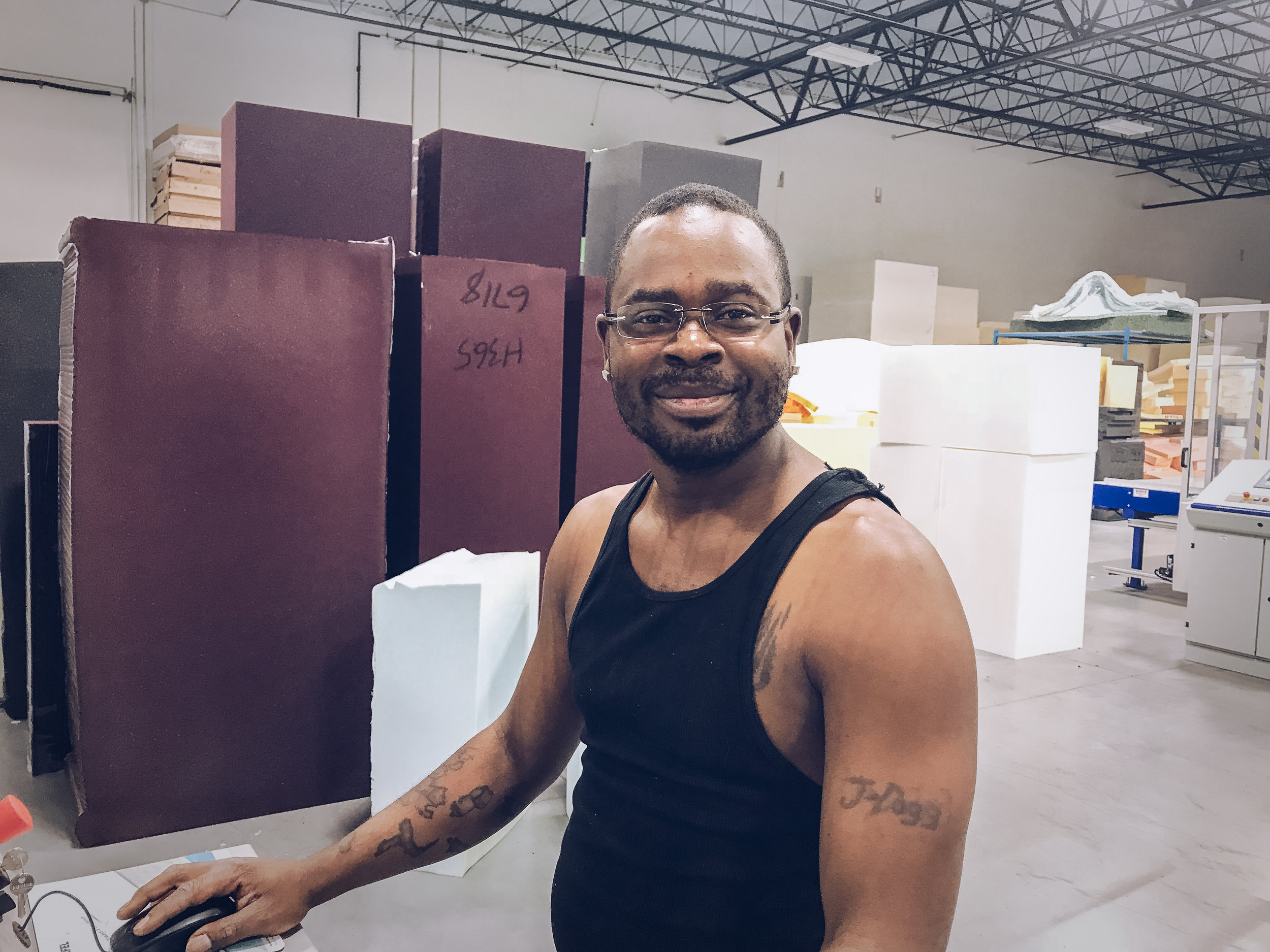 Meet Jamie Freeman, the Saw Lead and CNC Operator here at Comfort Option.