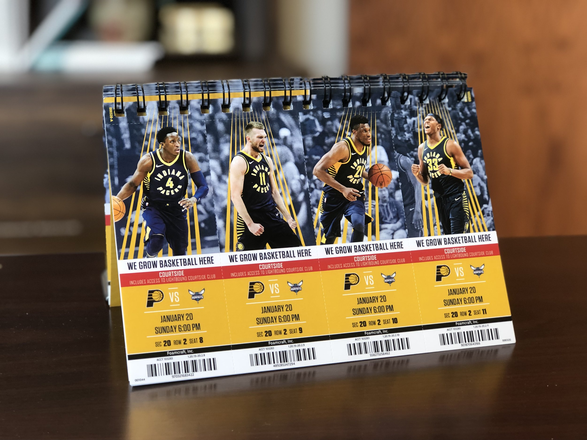 Enter to win four front-row tickets to the Indiana Pacers game on January 20th!