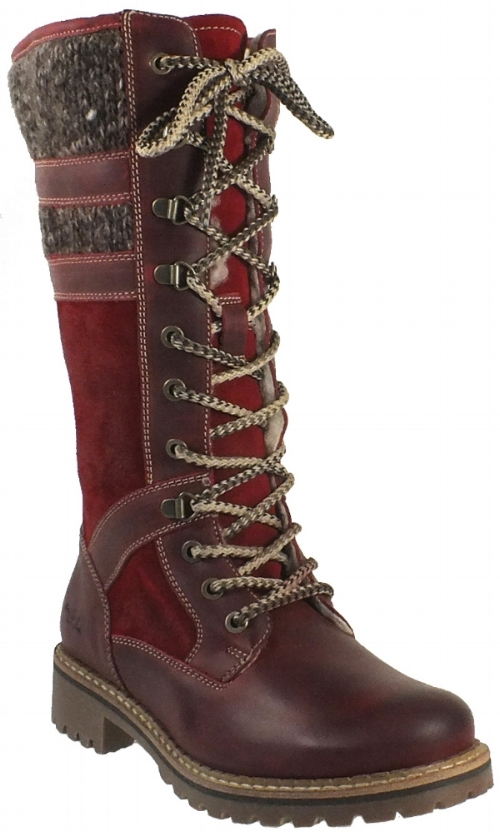Bos & Co Holding Lace Boot - Red (PC: bosandco.com)