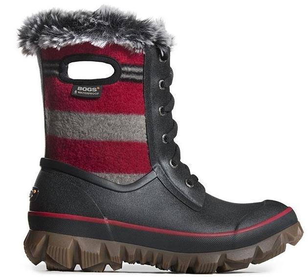 Bogs Arcata Stripe - Cherry (PC: bogsfootwear.com)