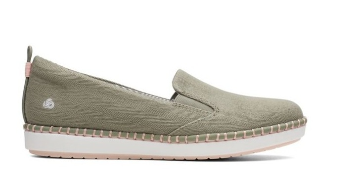 Clarks Brand - Step Glow shoe in olive