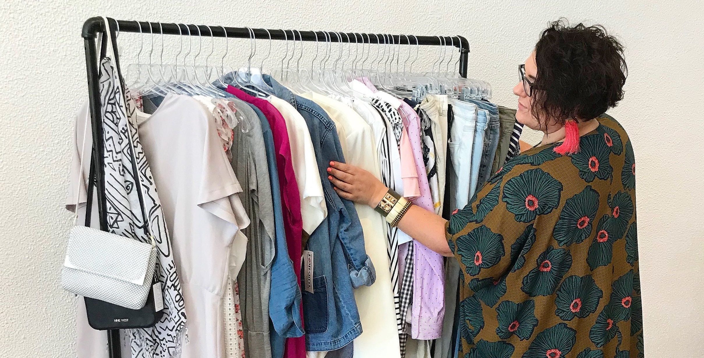 image of clothes hanging at Cake Plus-Size Resale