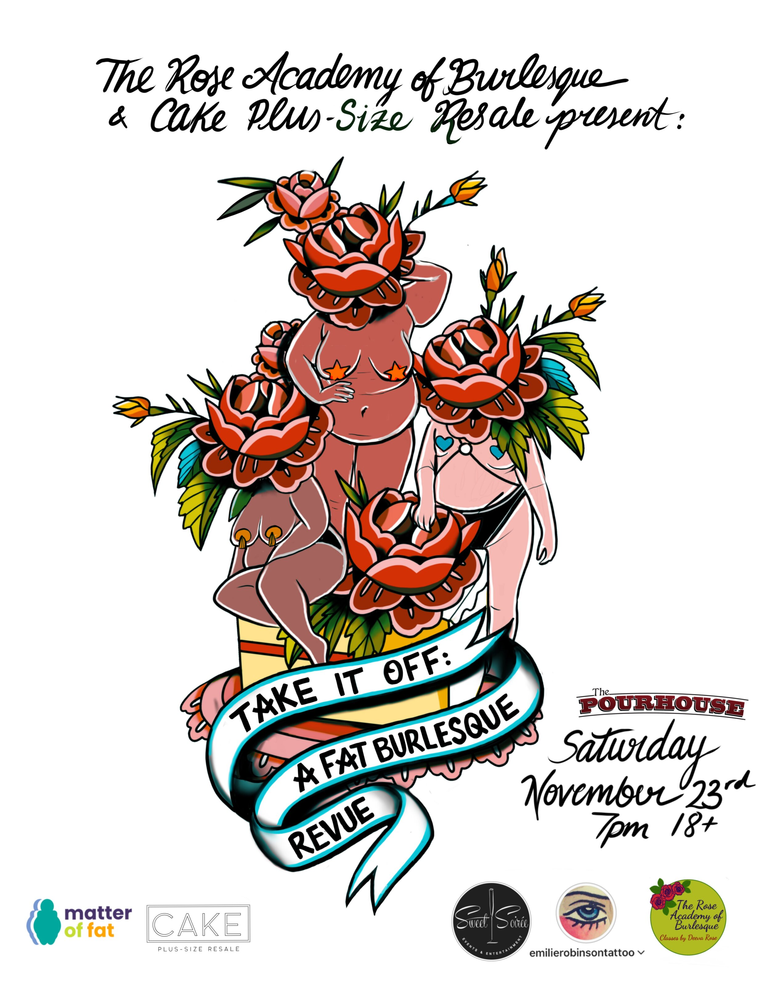 Poster by Emilie Robinson of the Aldrich Tattoo Parlour.
