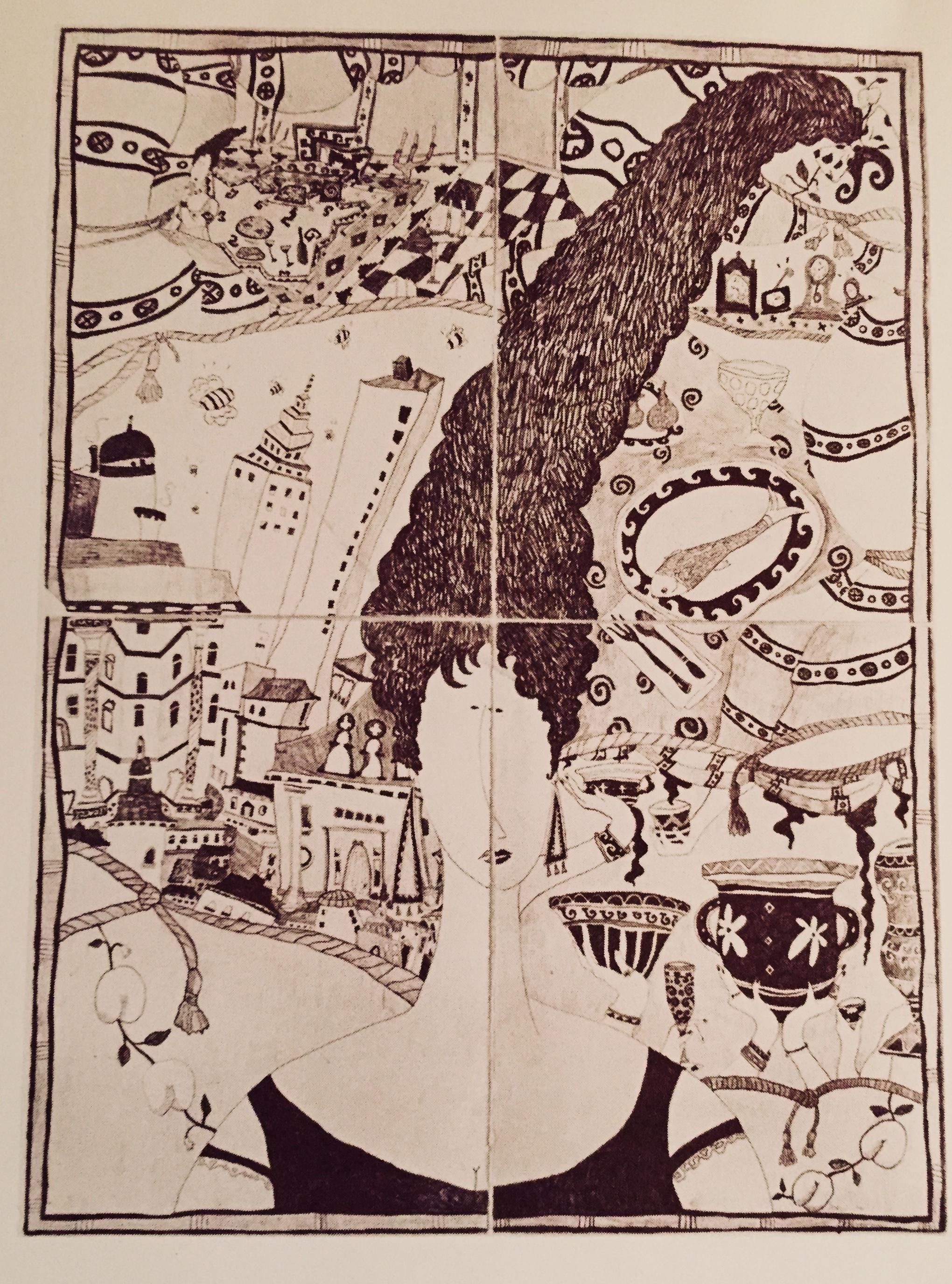 """Edwina's Head  Graphite on paper, 1993, (60 x 44""""). SOLD"""