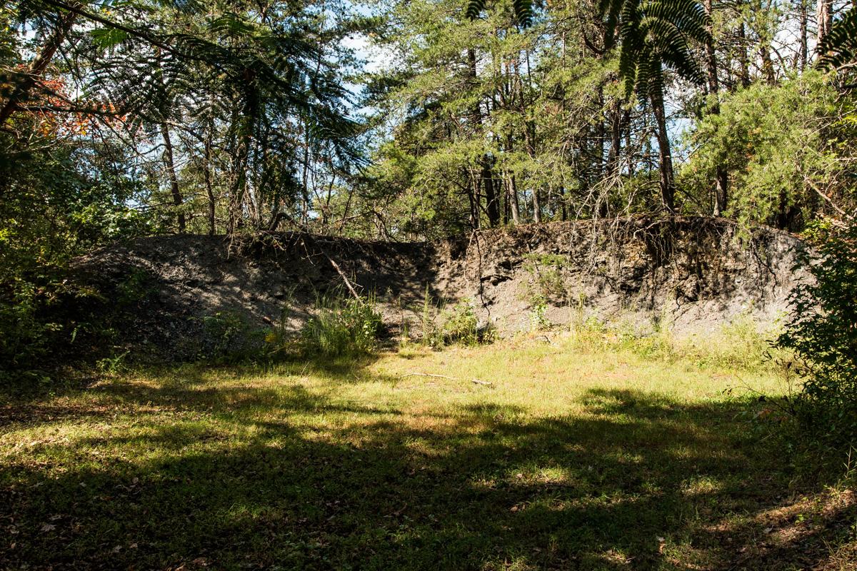 Remains of Slag Pile from Ravenscroft Mine
