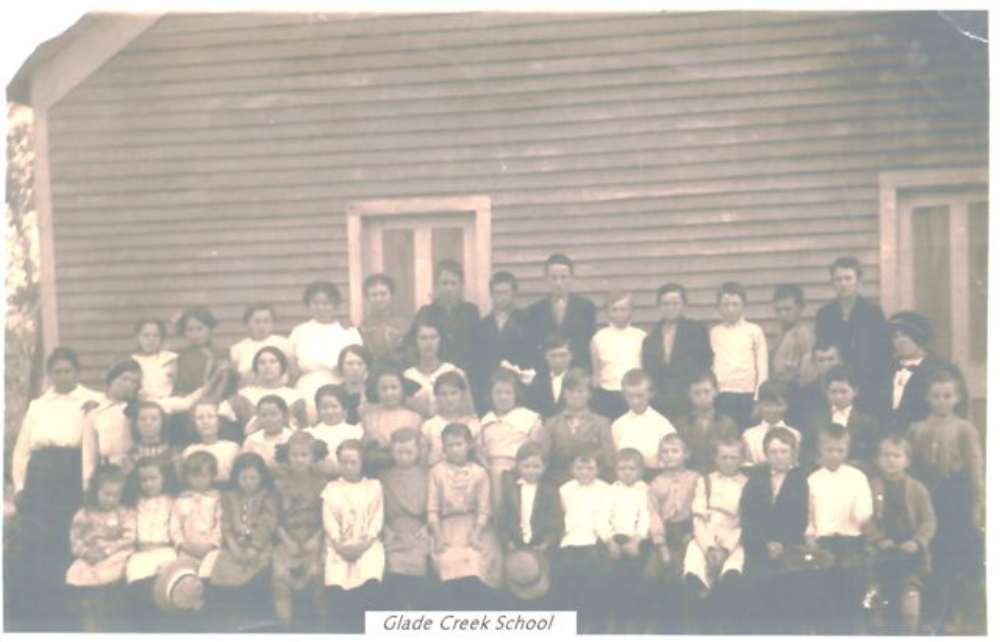 Glade Creek School.Photo courtesy of Helen Randolph Presley