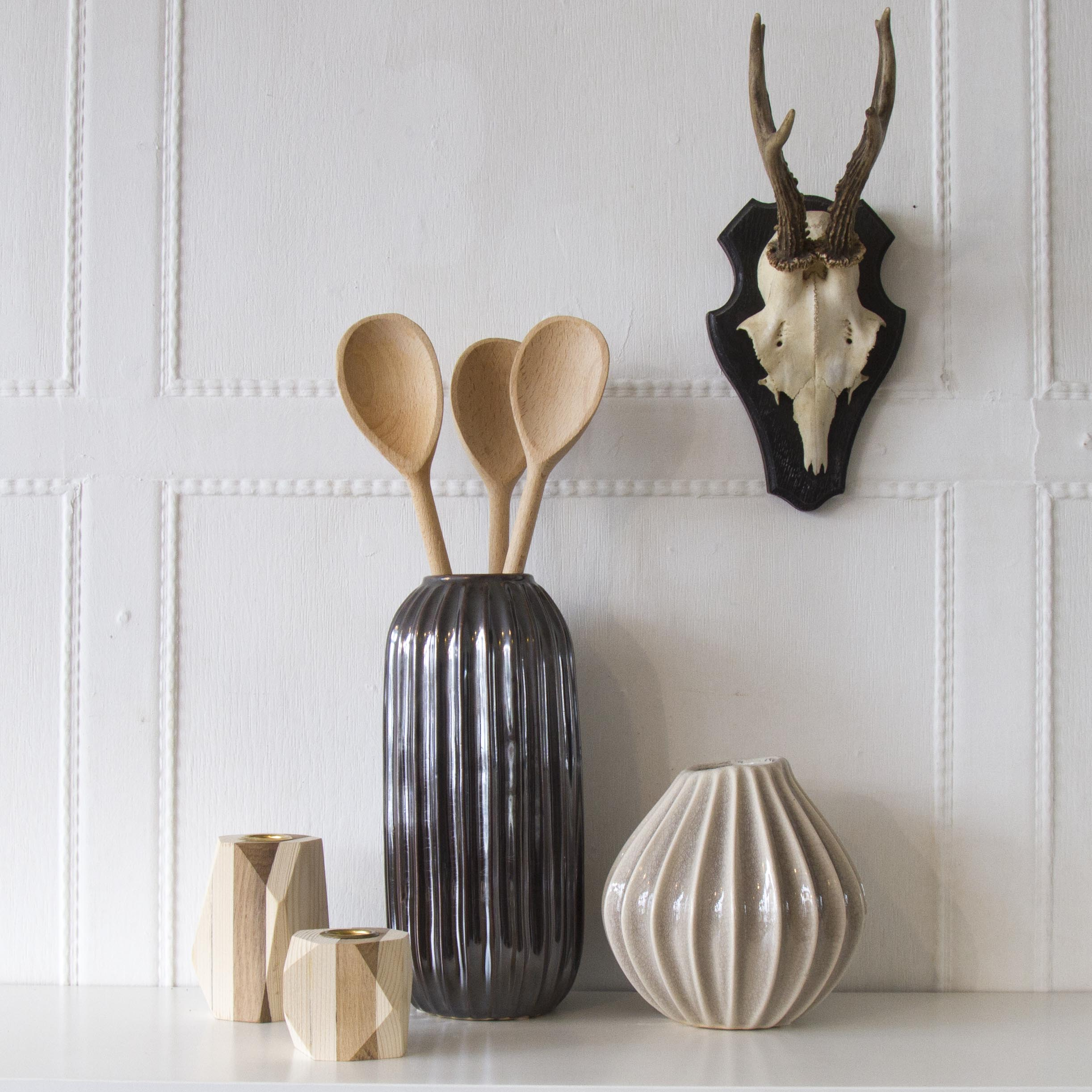 Broste 'Lines' Stoneware Vase