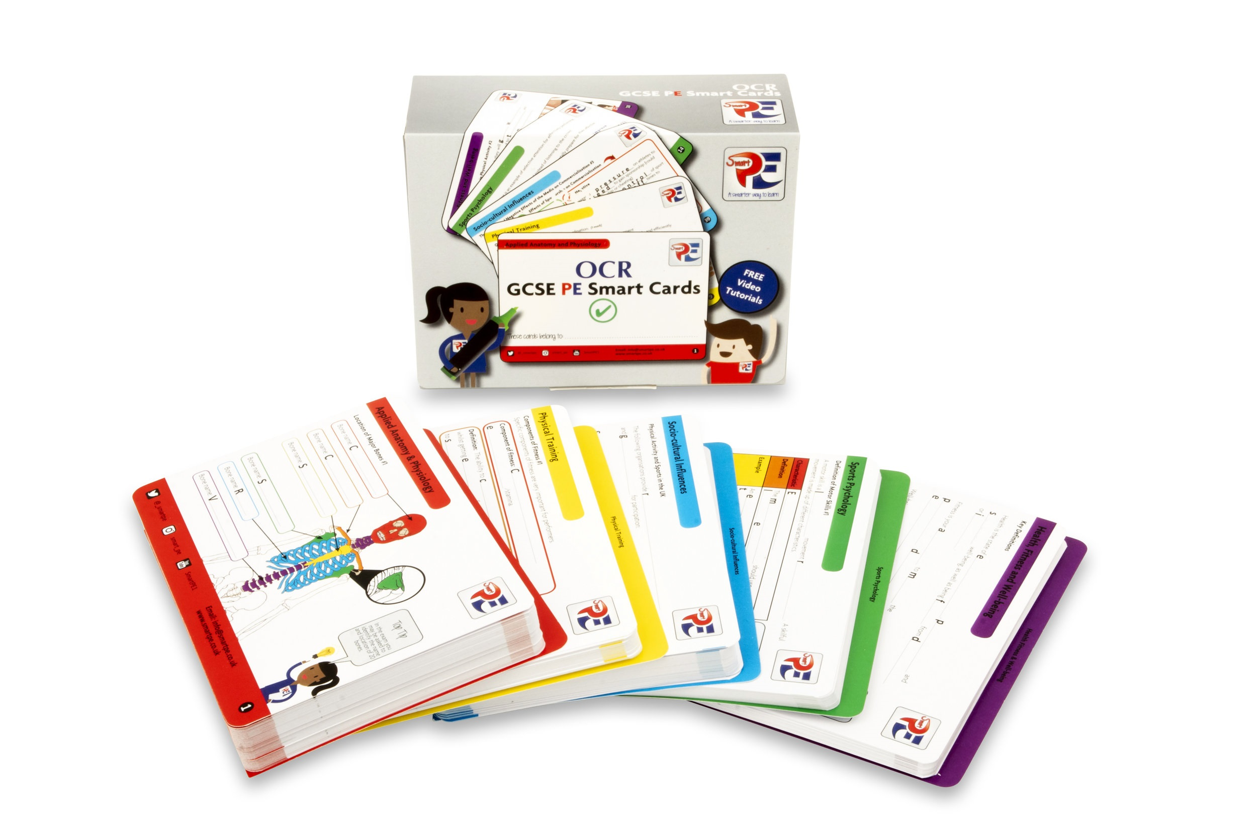 OCR GCSE PE Smart Cards - ONLY £18.49Smart Cards are here to support and help you be better prepared for the challenging GCSE PE exams. They are concise, easy to use and specific to your exam board.Buy now
