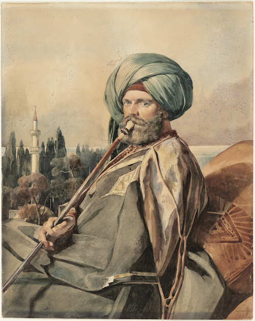 Portrait of John Lowell, Jr.,AlexandriaC. Gleyre(Swiss (active in France), 1806–1874)1834  - Watercolor over graphite pencilLent by the Trustee of the Lowell Institute, William A. Lowell.Photograph © Museum of Fine Arts, Boston