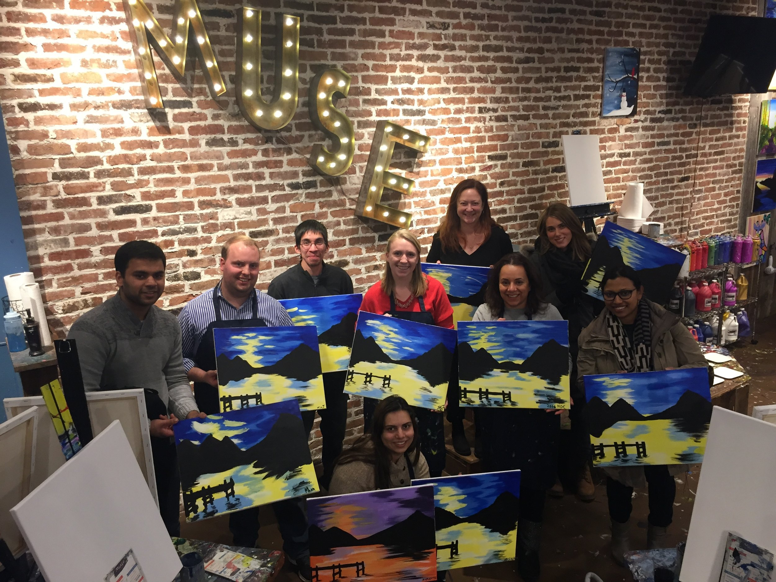 Lab outing: paint night
