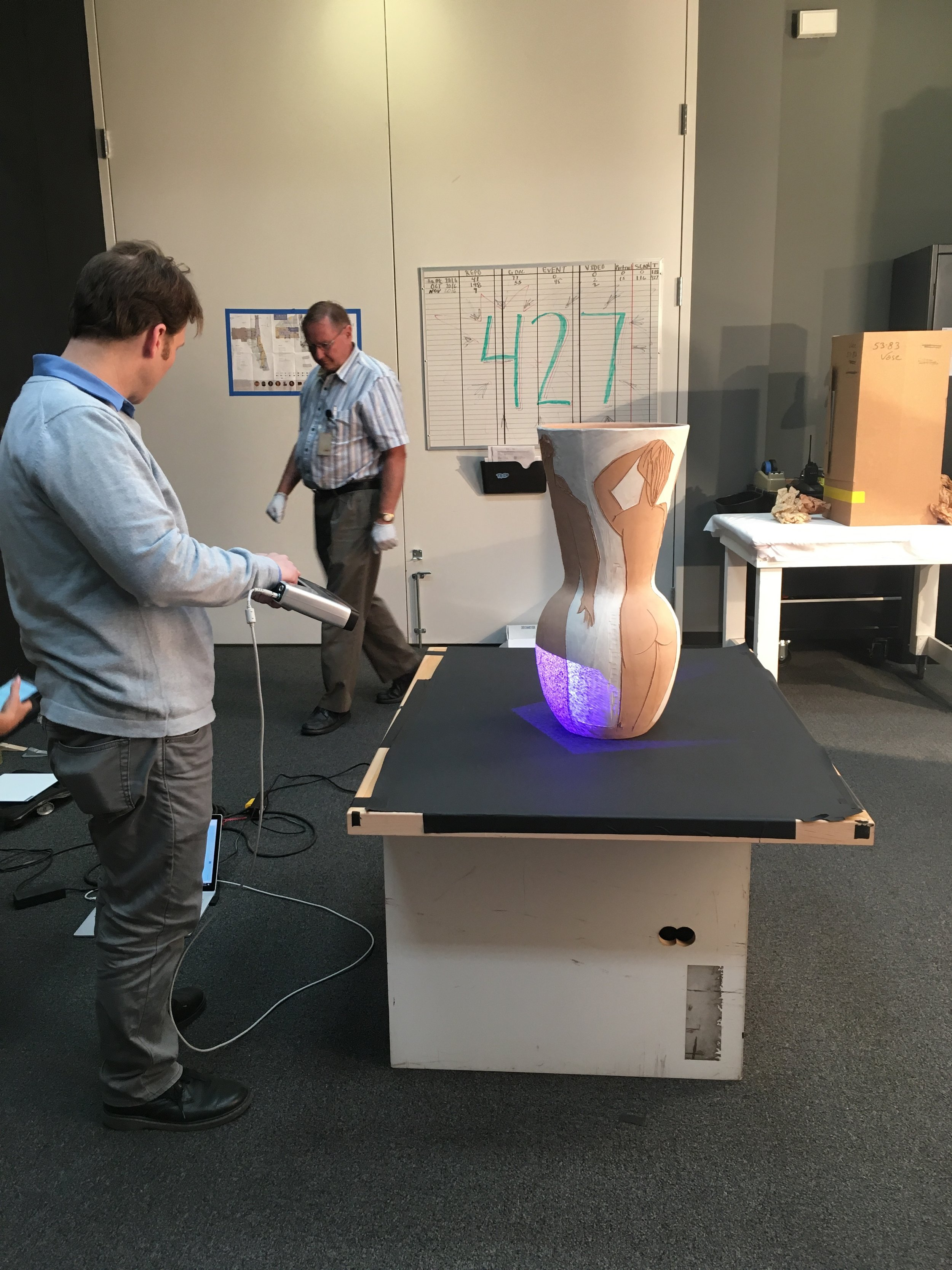 The Picasso Vase Being scanned