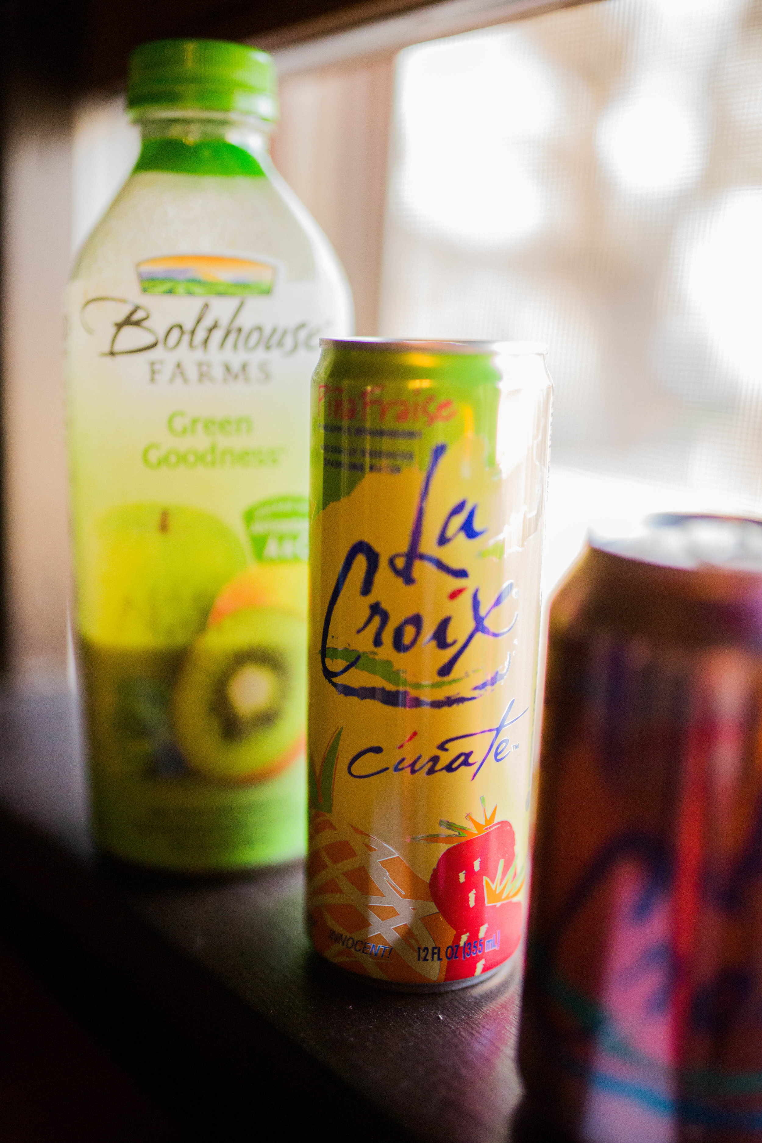 I am a total drink girl. Always feel better if I have something pretty to sip on. I ditched the soda and will instead grab a La Croix, Bolthouse smootie or Kombucha out of the fridge.