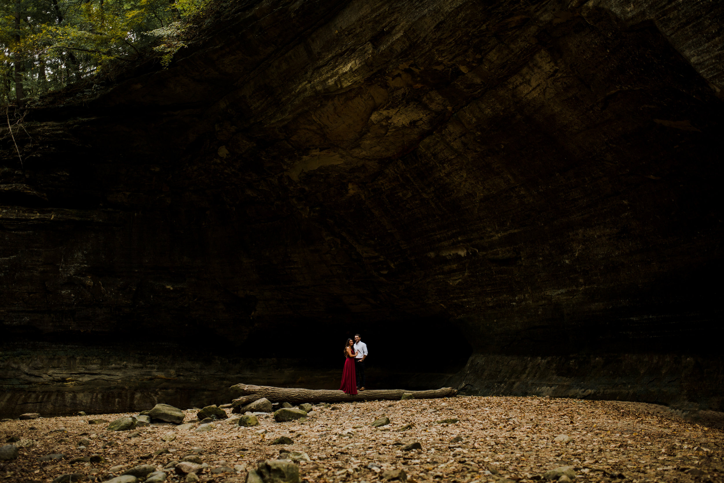 Romantic Adventurous engagement session in Midwest, Illinois