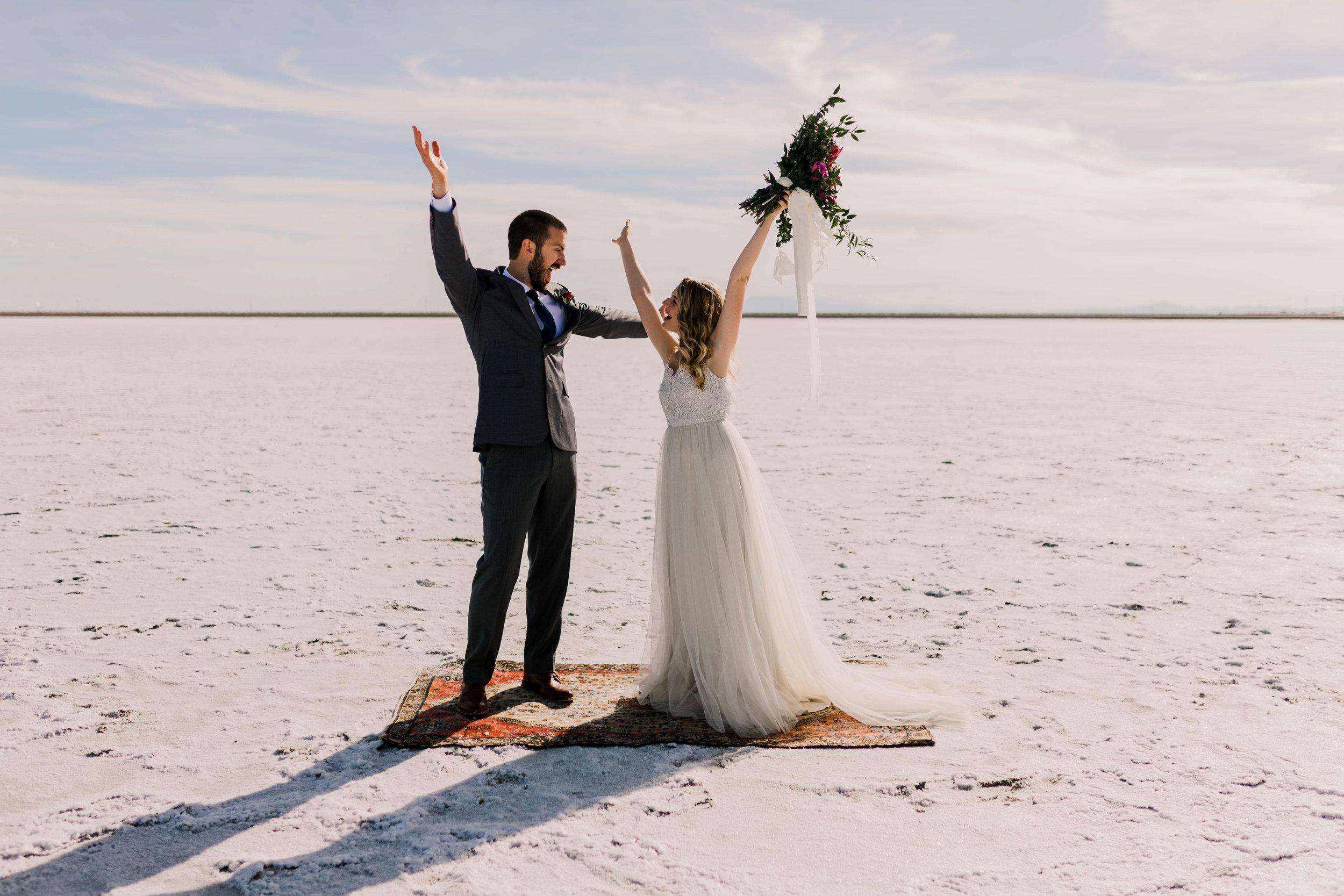 Adventurous, romantic, intimate elopement in Utah