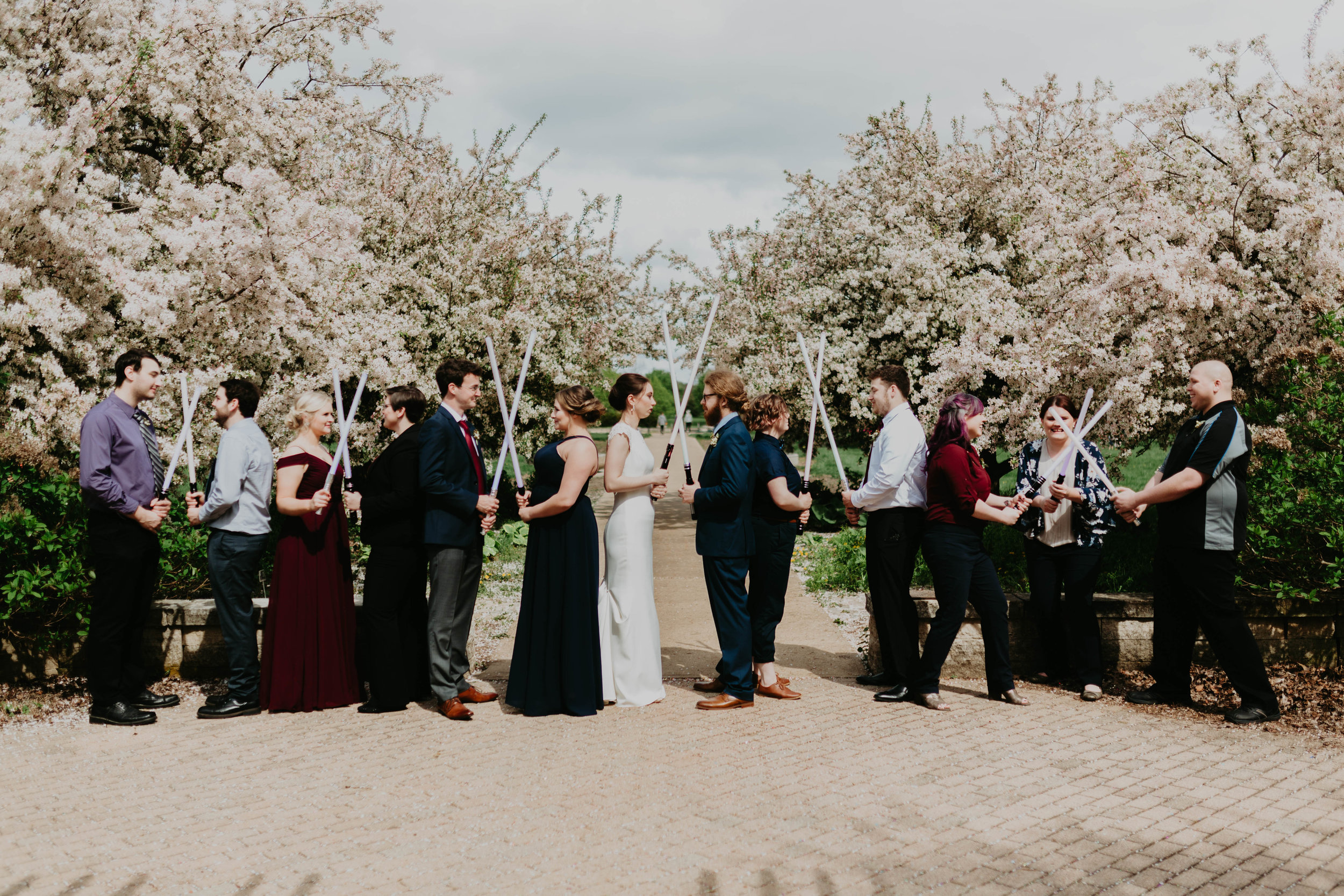 Intentional, non-traditional, intimate, Star Wars themed wedding