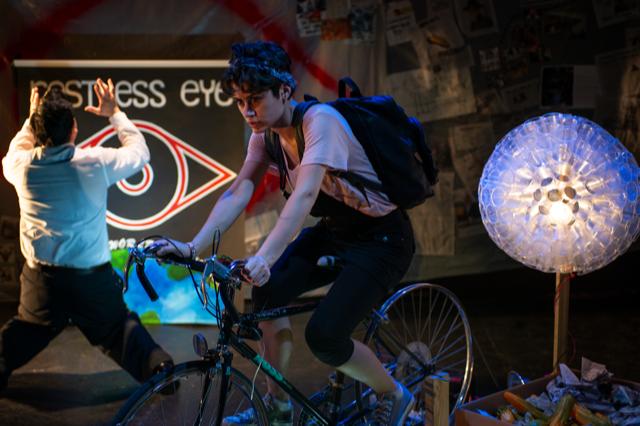 Ellen rides Mercury Daniels into outerspace -- Photo credit Jess Hock.png