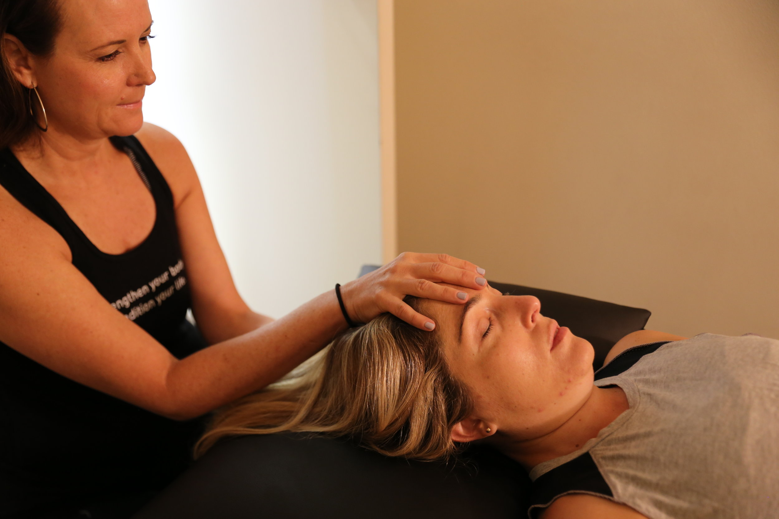 CRANIOSACRAL/ VISCERAL THERAPY - Craniosacral Therapy (CST) is a gentle hands-on method of enhancing the functioning of the membranes and fluid that surround the brain and spinal cord.