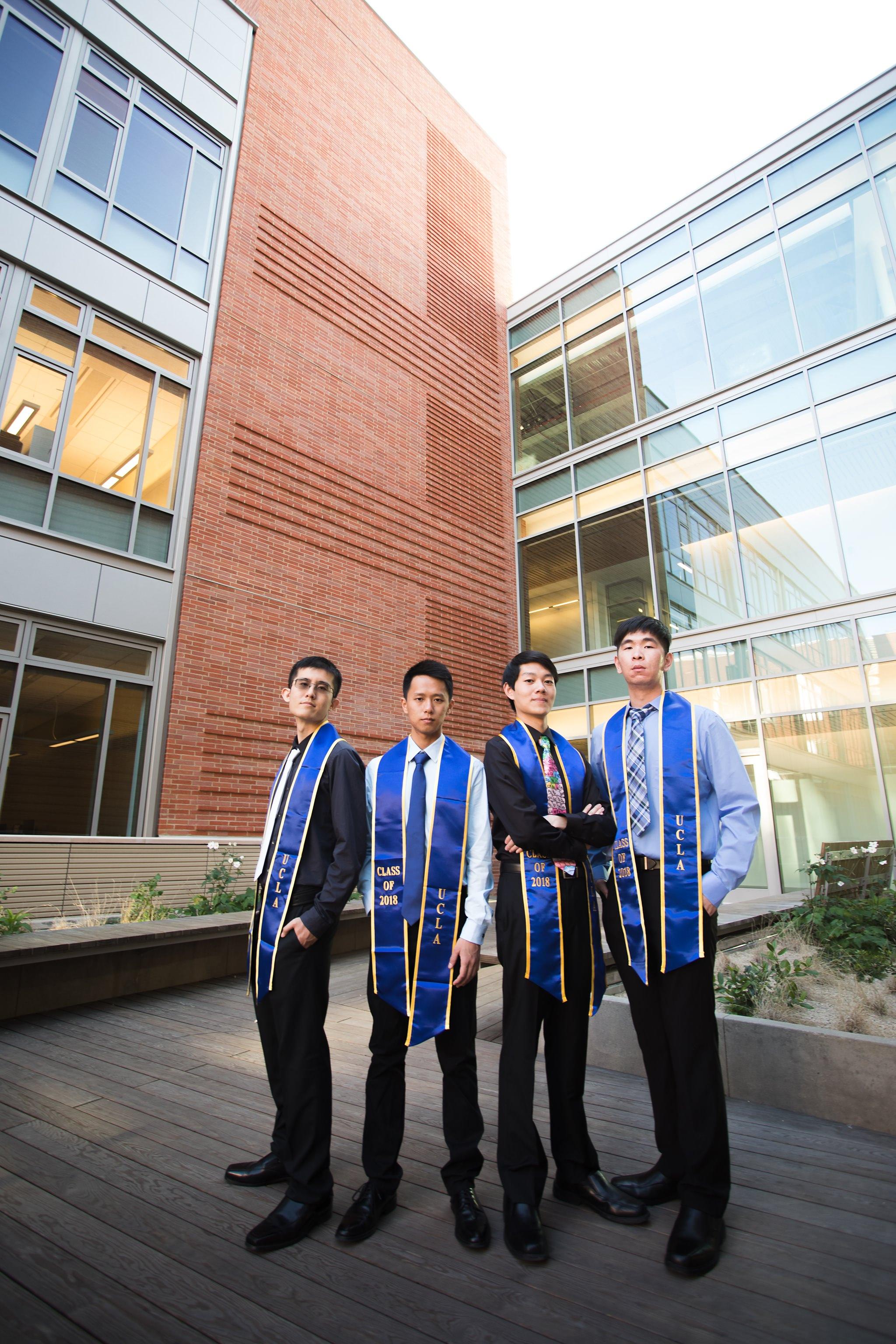 los-angeles-ucla-senior-graduation-portraits-epic-environmental-wide-angle-serious-guys