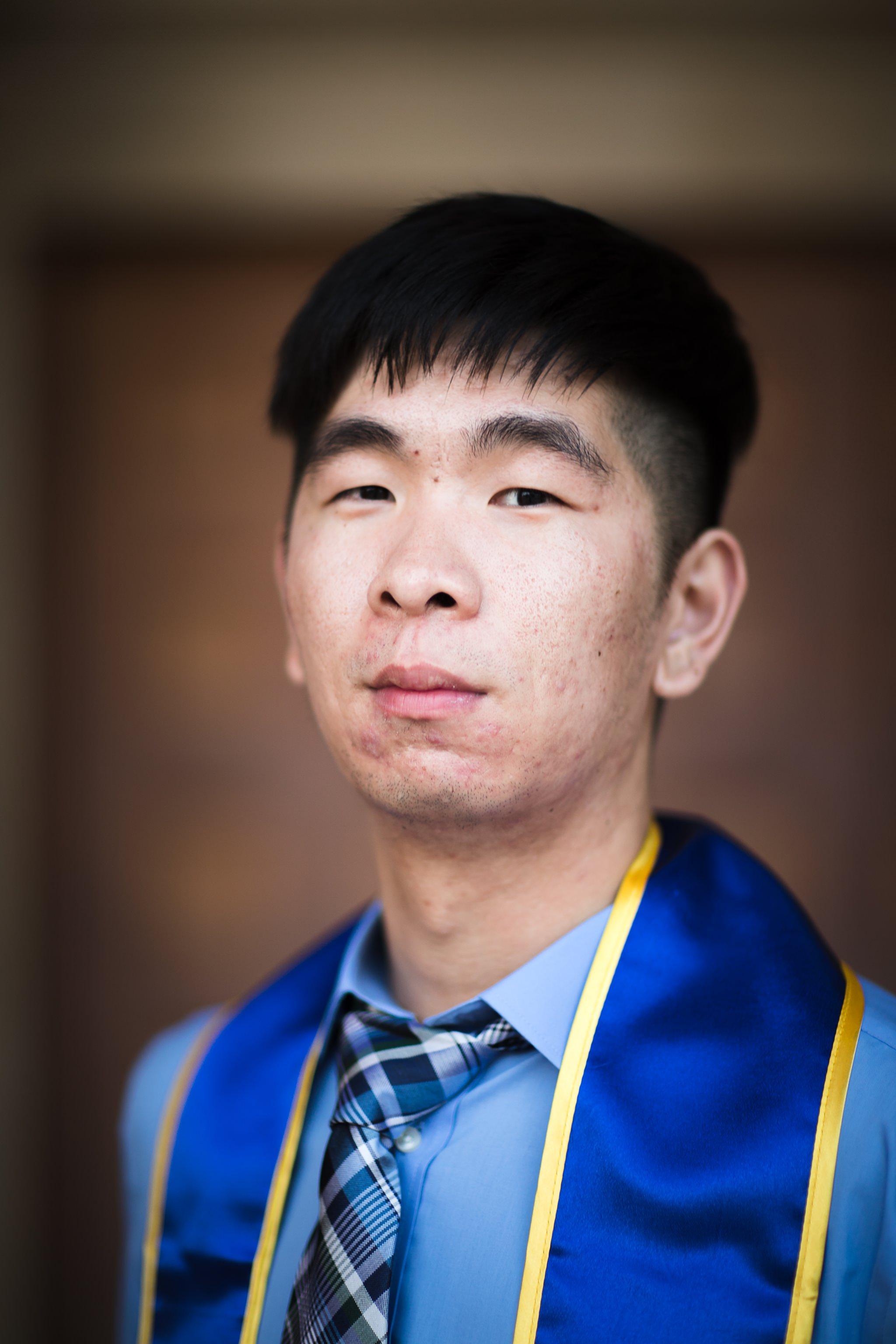 los-angeles-ucla-senior-graduation-portraits-royce-doors-headshot-with-sash