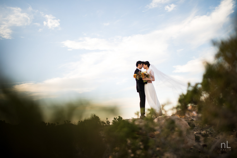 joshua-tree-engagement-wedding-elopement-photography-stylized-photoshoot-epic-environmental-portrait-bride-and-groom-veil-flowing-wind