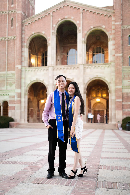 los-angeles-ucla-senior-graduation-portraits-couple-royce-hall-epic-sashes