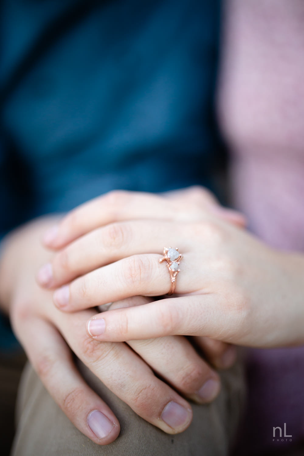 los-angeles-national-forest-engagement-photography-holding-hands-ring-shot