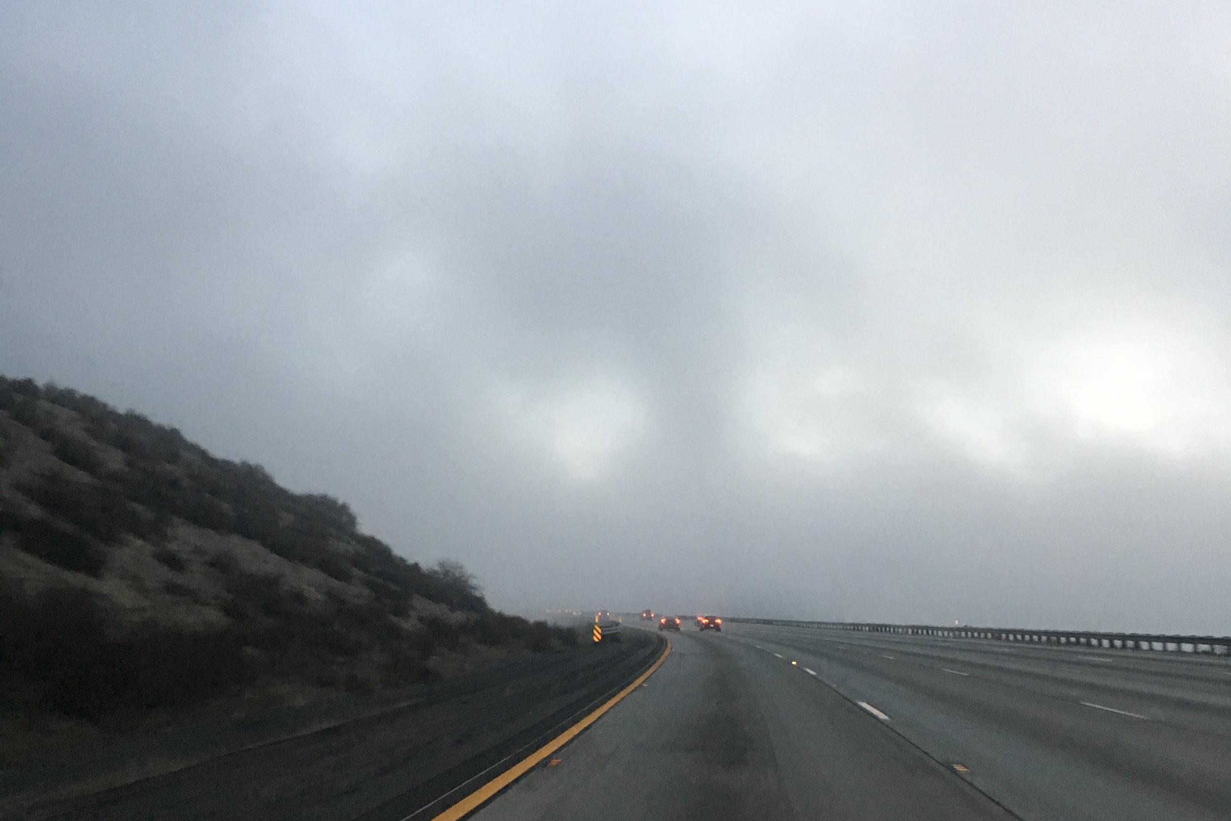 Dreamy pre-sunrise weather on I-15 north!