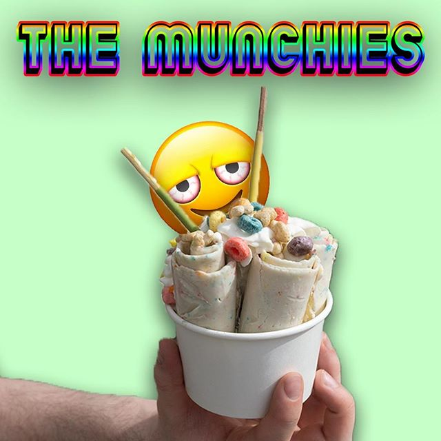 Get The Munchies for FREE Saturday, 4/20, pun intended. Rolled and Roasted is hosting a free ice cream event from 12-6, our top two flavors of Rolled Ice Cream are absolutely free. You HAVE to come check it out. *DISCLAIMER* Rolled and Roasted does not endorse the use of any drugs, only ice cream.