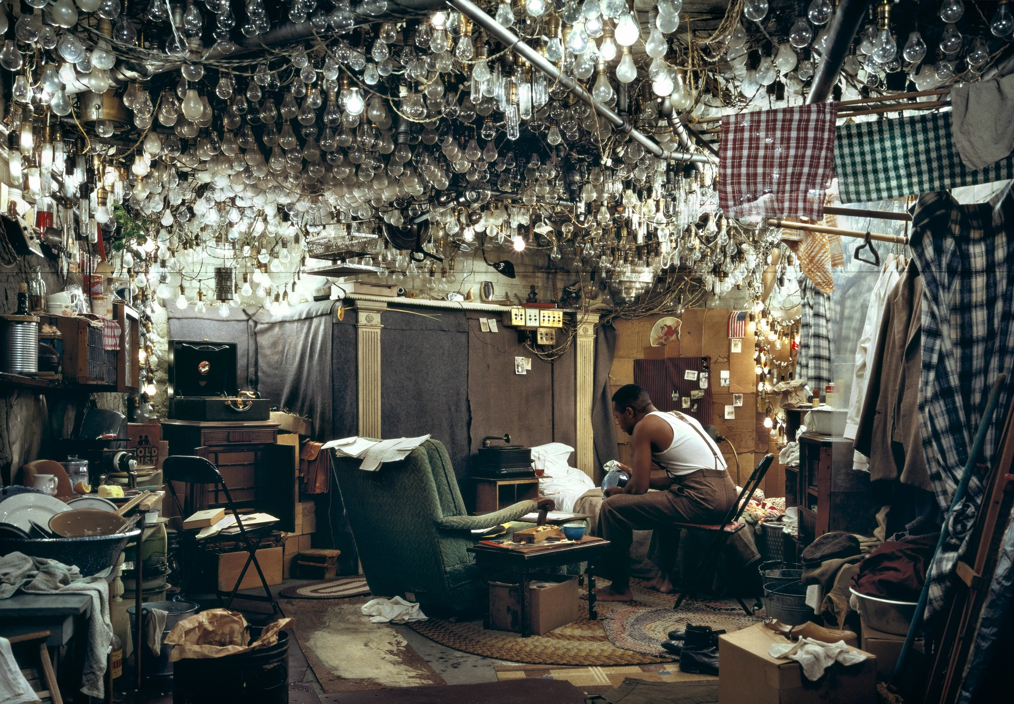 "After ""Invisible Man"" by Ralph Ellison, The Prologue  by Jeff Wall"