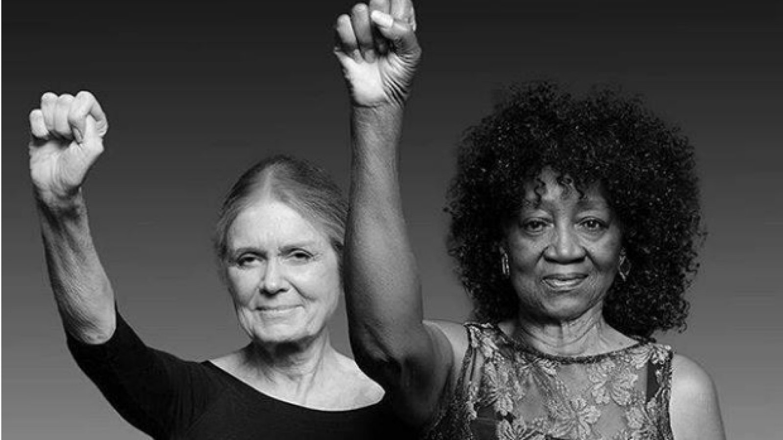 Left to right: Steinem and Davis.