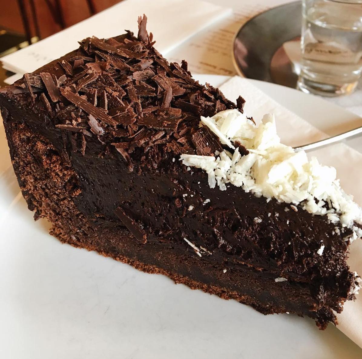 Chocolate Cake- Cafe Louvre Praha