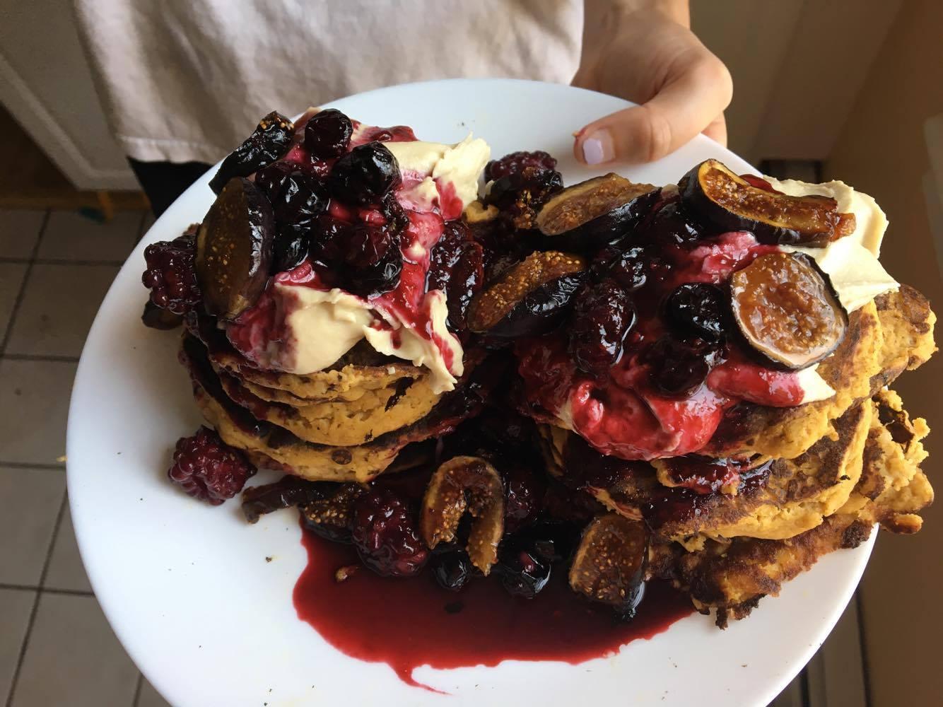 Bangin' Sweet Potato pancakes