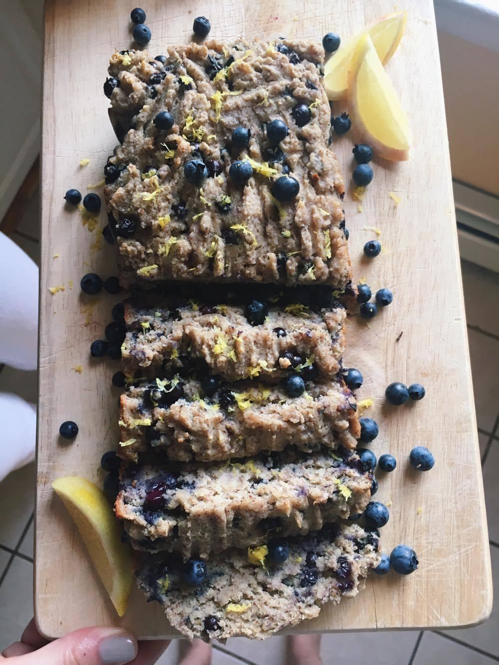 Vegan Lemon Blueberry Loaf