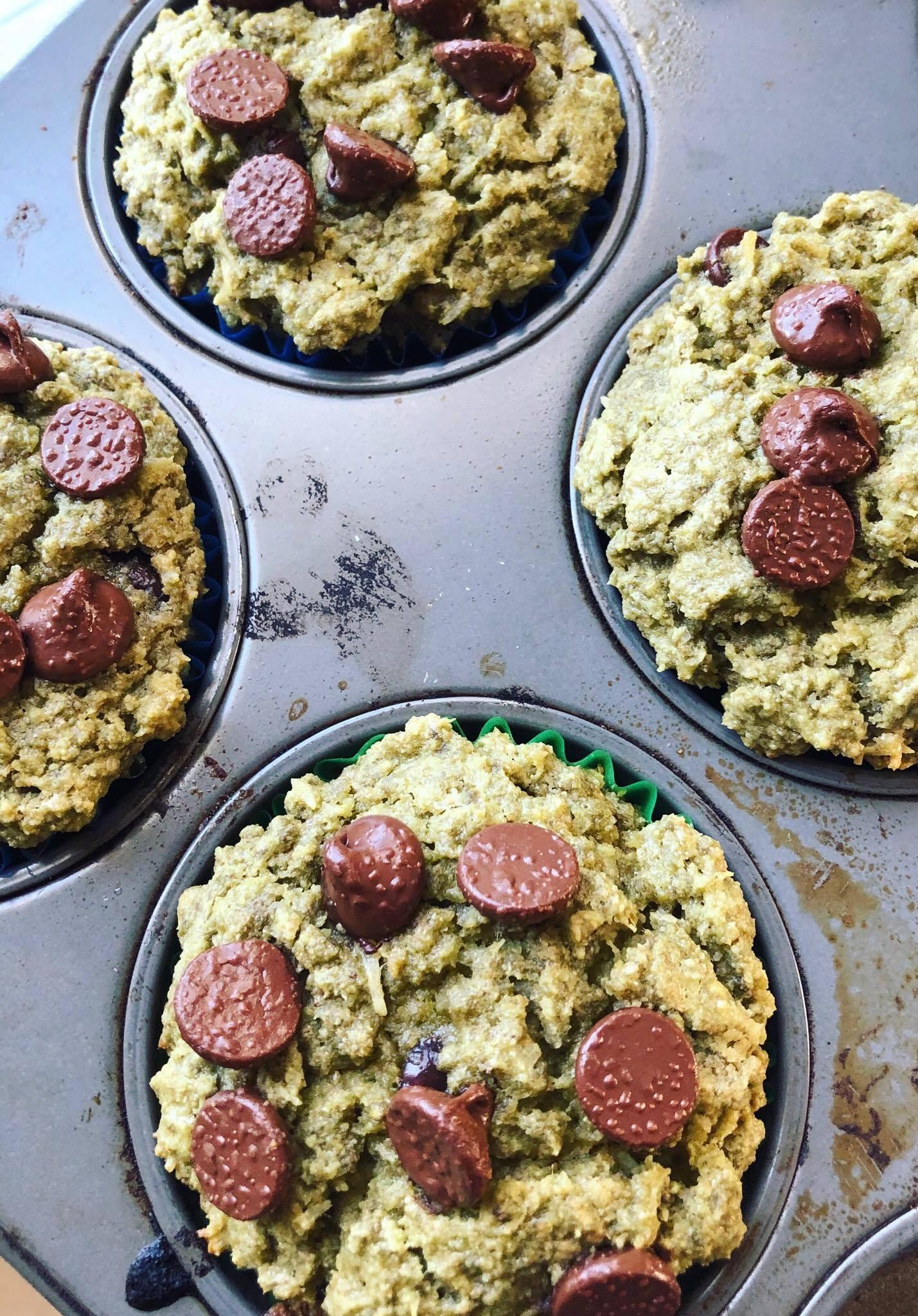 Matcha Chocolate Muffins